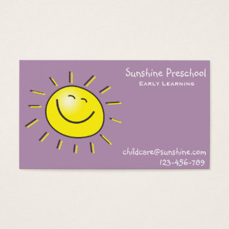 Sunshine Preschool Early Learning Centre Business Card