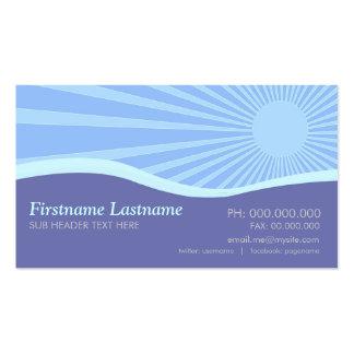 Sunshine Purple Hills Curves Business Card