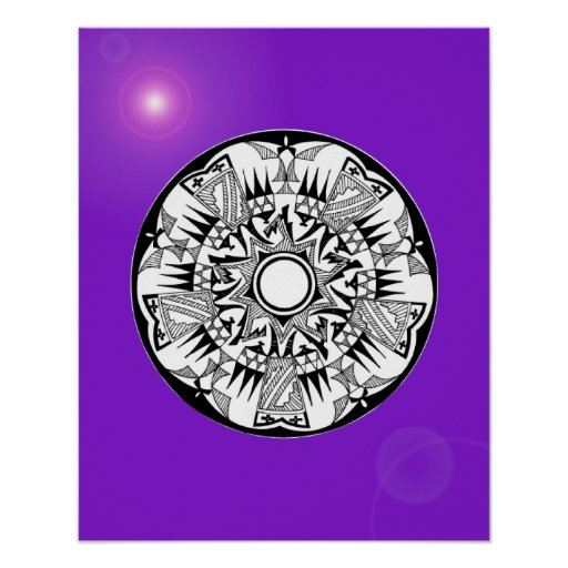 'Sunshine púrpura magnético Póster