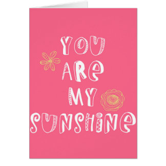 sunshine quote card