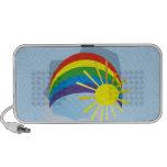 Sunshine rainbow abstract art speaker