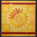"Sunshine Red Dinner Napkin<br><div class=""desc"">purely sunshine to brighten up your summer meals! Great for patio dinners,  indoor and outdoor entertaining,  summertime tablesettings.</div>"