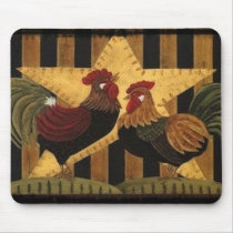 Sunshine Rooster Mouse Pad