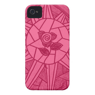 Sunshine Rose Stained Glass Look Blackberry Case