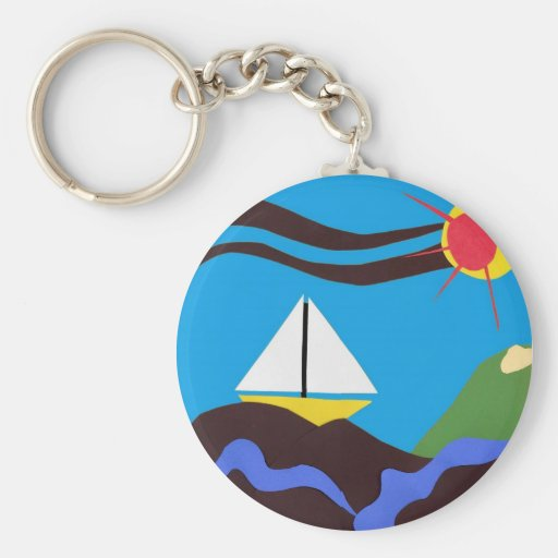 Sunshine Sailor Key Key Chains