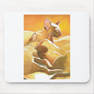 Sunshine Siamese Cats Mouse Pad