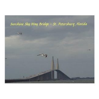 Sunshine Sky Way Bridge St Petersburg, Florida Postcard