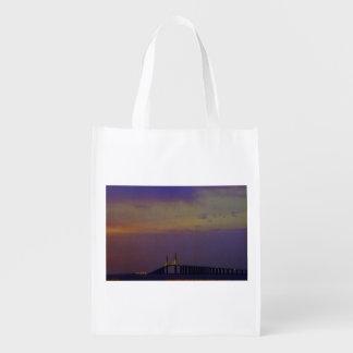 Sunshine Skyway Bridge Grocery Bag