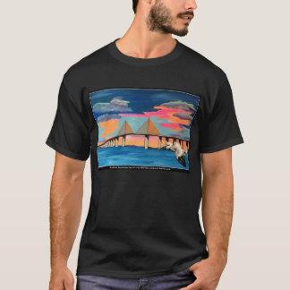 Sunshine Skyway Bridge Pop! painting on a Men Shir T-Shirt