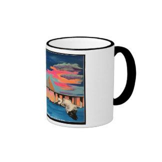 Sunshine Skyway Bridge Pop painting on a Mug