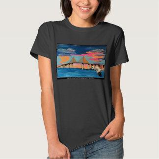 Sunshine Skyway Bridge Pop! painting on a top T-shirts