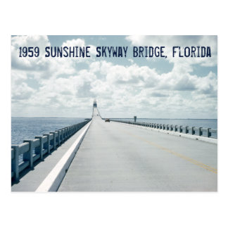 Sunshine Skyway Bridge St. Petersburg Florida 1959 Postcard