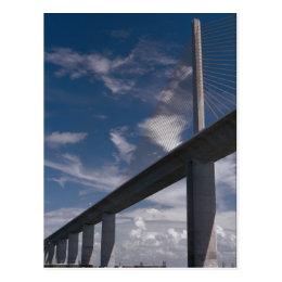 Sunshine Skyway Bridge, Tampa Bay, Florida, U.S.A. Postcard