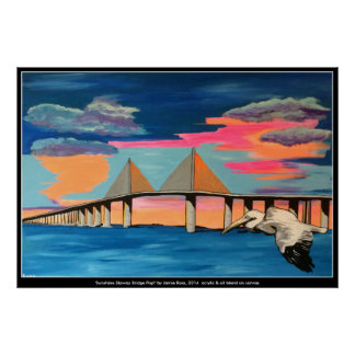 Sunshine Skyway Bridge, Tampa FL Poster