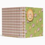 Sunshine Smiles & Butterflies Notebook Binder
