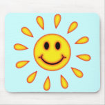 Sunshine Smiley Face Mouse Pad