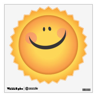 Sunshine Smiliey Sun Face Kids Room Wall Decal Room Graphic
