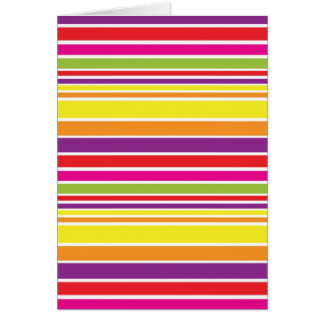 Sunshine stripe card
