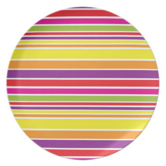 Sunshine stripe dinner plate
