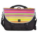 Sunshine stripe laptop messenger bag