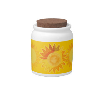 Sunshine Sugar Jar Candy Dish