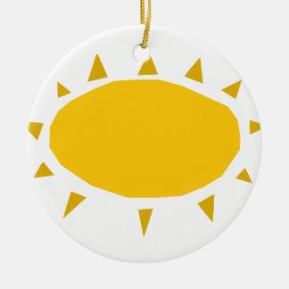 Sunshine, Sun shining, cartoon Ceramic Ornament