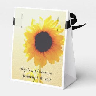 Sunshine Sunflower Favor Box