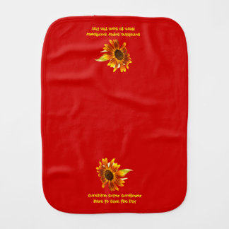 Sunshine Super Sunflower Baby Burp Cloths