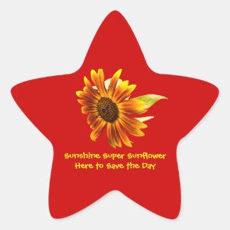 Sunshine Super Sunflower Star Sticker