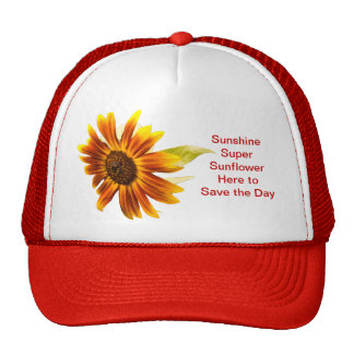 Sunshine Super Sunflower Trucker's Cap Trucker Hat