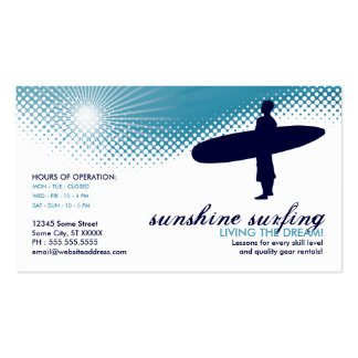 sunshine surfing Double-Sided standard business cards (Pack of 100)