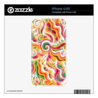 Sunshine Swirls Decal For iPhone 4S