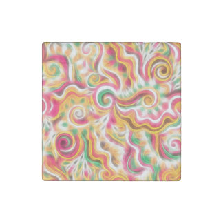 Sunshine Swirls Stone Magnet