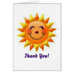 Sunshine Thank You Note Card