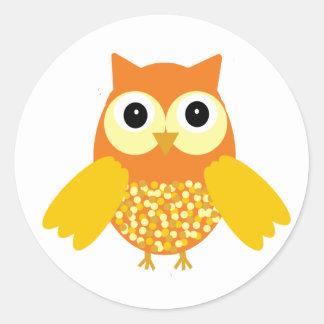 Sunshine the Adorable Owl Classic Round Sticker