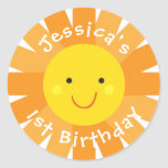 Sunshine Themed Birthday Sticker- Bday Labels