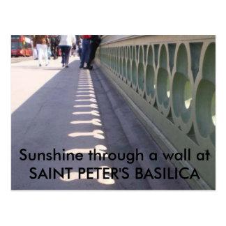 Sunshine through a wall... postcard