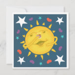 Sunshine & Whiskey Folk Art Cartoon Cheers Flat Square Card