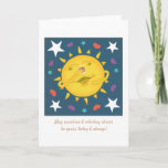 Sunshine & Whiskey Folk Art Cartoon Cheers Greeting Card
