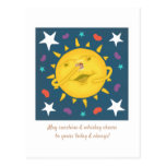 Sunshine & Whiskey Folk Art Cartoon Cheers Postcard