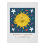 Sunshine & Whiskey Folk Art Cartoon Cheers Poster