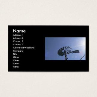 Sunshine Windmill Business Card