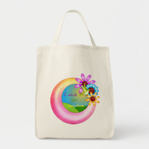 Sunshine Wish Organic Grocery Bag bag