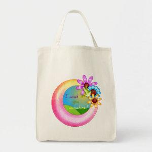 Sunshine Wish Organic Grocery Bag bag