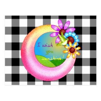 Sunshine Wish Pixel Art Postcard