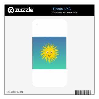 Sunshine With Circular Lines Skins For The iPhone 4S