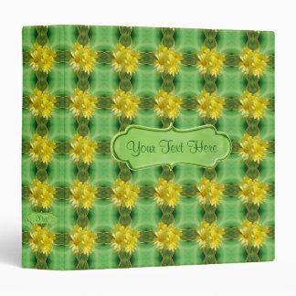 Sunshine Yellow Daisies Pattern 1.5 inch Custom Binder