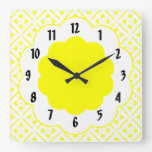 Sunshine Yellow Flower Pattern  Wall Clock Wall Clock