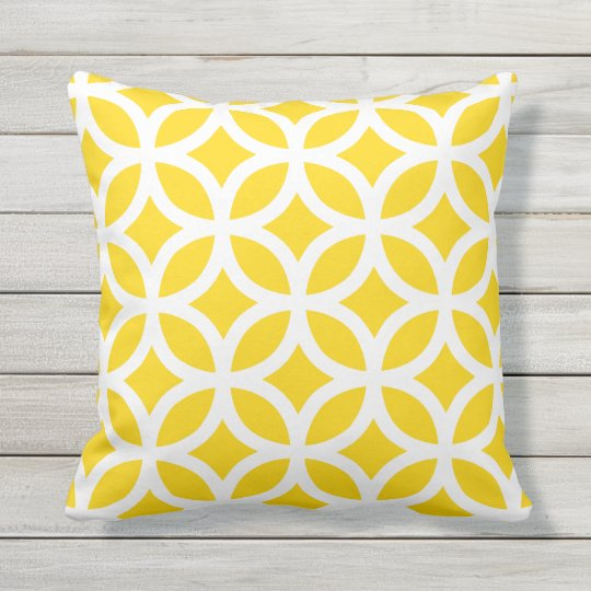 Sunshine Yellow Geometric Pattern Outdoor Pillows Zazzle Com