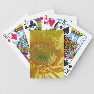 Sunshine Yellow Gerbera Daisy Bicycle Playing Cards